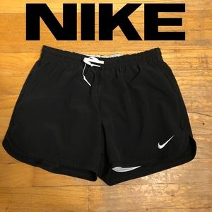 XS Dri-Fit Nike Shorts. Black shorts with a white
